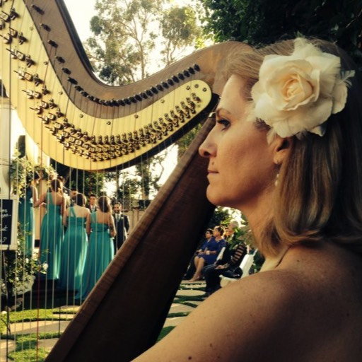 Wedding harpist at RIncon Beach Club