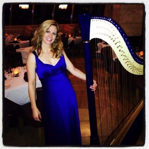 Harpist at Morongo Resort